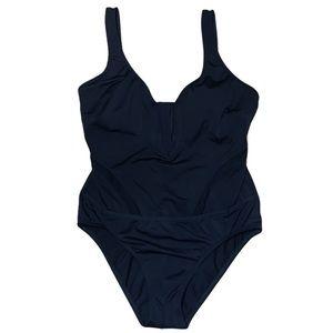 Nautica Women's Black One Piece Bathing Suit Sz M